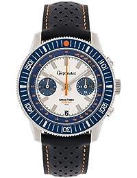 Gigandet Speed Timer Herren Armbanduhr Chronograph Analog Quarz Blau Weiß G7-008