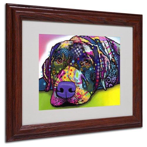 Trademark Fine Art Markenzeichen Fine Art Savvy Labrador mattierte Artwork von Dean Russo mit Holz Rahmen, 11 by - Russo Dean Artwork