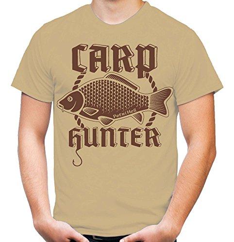Carp Hunter T-Shirt | Orginal | Angler | Angel | Karpfen | Fisch | Forelle | Hecht | Angeln | Fishing | Fischen | Fun | M4 Sand