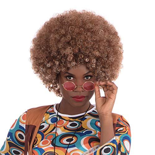 Bristol Novelty bw484Beyonce Afro Perücke braun, One - 1970's Party Kostüm
