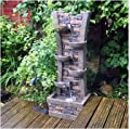 Kingfisher WF900 Wall and Bowl Cascading Water Feature - Grey by King Fisher