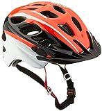 Alpina Kinder Rocky Fahrradhelm, Neon Red-Black-White, 52-57