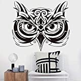 Hwhz 49 X 44 cm Owl Head Animal Wall Stickers Children