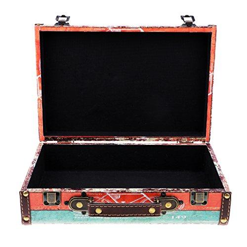 Sunnimix cassa di legno vintage cassa del tesoro gioielli custodia caso regali - 11611