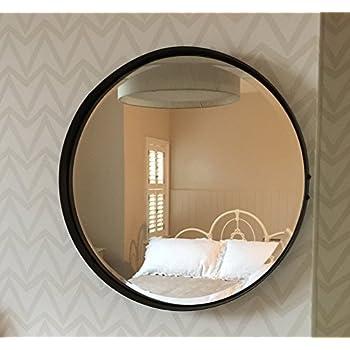 Umbra hub wandspiegel runder spiegel f r diele badezimmer wohnzimmer und mehr schwarz 61cm - Runder spiegel schwarz ...