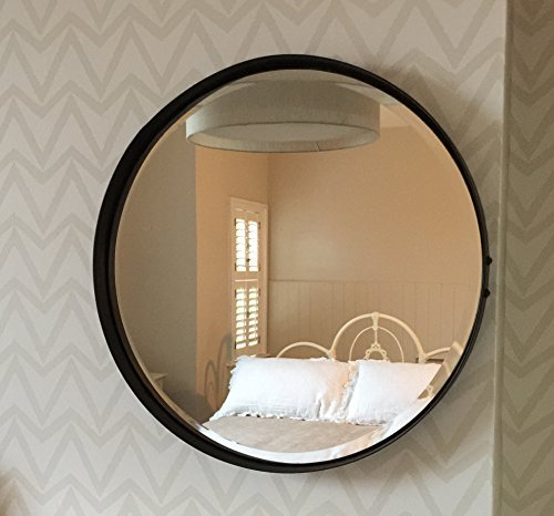 Redondo espejo 55cm diámetro Envejecido óxido color