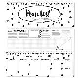 bigdaygraphix Tischplaner 2019 Plan los! Wochenkalender ohne festes Datum im Querformat 10,5 x 29,7 cm schwarz-weiß (Schwarz-Weiß, 10,5 x 29,7 cm)