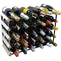 Harbour Housewares 30 Bottle Wine Rack 6x5 - Fully Assembled - Light Wood