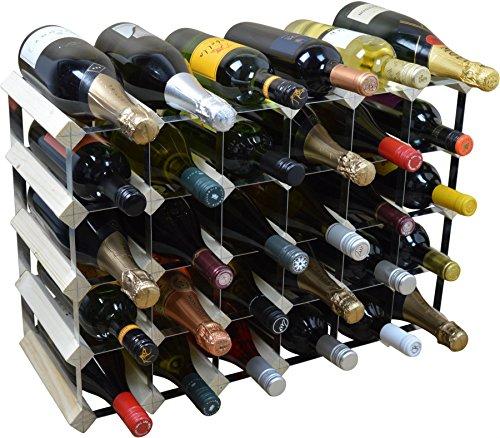 Weinregal für 30 Flaschen - Fertig montiert - Helles Holz