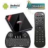 UKSoku EstgoSZ Android 7.1 3GB 64GB 4K TV Box con Amlogic S912 Octa Core CPU Smart Set top box Support Dual WiFi 2.4G / 5G Bluetooth 4.1 1000M LAN 3D H.265 con Wireless Mini Tastiera Retroilluminata