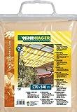 Windhager Sonnensegel für Seilspanntechnik, Sand, 270 x 140 cm