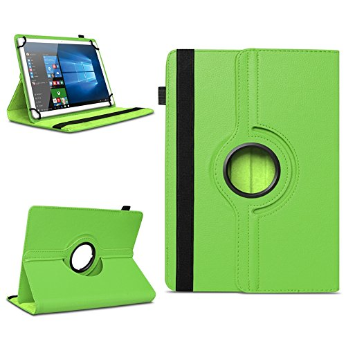 Xido Z120 Z110 X111 X110 Tablet Tasche Schutzhülle hochwertiges Kunstleder Hülle Standfunktion 360° Drehbar Cover Universal Case, Farben:Grün