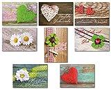 50 Glückwunschkarten Allgemeine Wünsche Blumen Herz