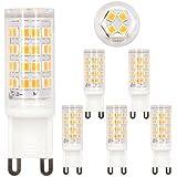 VOYOMO LED G9 Warmweiß, 5W, Ersatz für 40W Halogen, Upgrade 52LED & Nicht Flimmern, 360° Abstrahlwinkel, AC 200-240V, 5er Pack