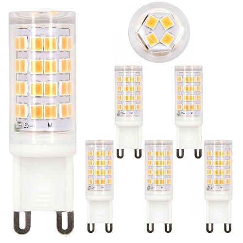 LED G9 Warmweiß, VOYOMO G9 5W Ersatz für 40W Halogen, Upgrade 52LED & Nicht Flimmern, 360° Abstrahlwinkel, AC 200-240V, 5er Pack