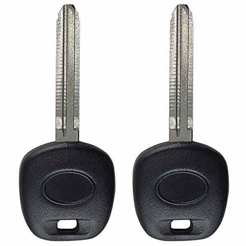 2keylessoption Ersatz ungeschliffen Zündung Gechipt Schlüssel Transponder blanko kompatibel mit Dot Chip von keylessoption (2009 Sienna Schlüssel Toyota)