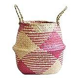 ypypiaol Faltbarer Seetang-Schmutzwäsche-Korb-Blumen-Pflanzer-Topf-Vorratsbehälter Nützlich 1# MNone