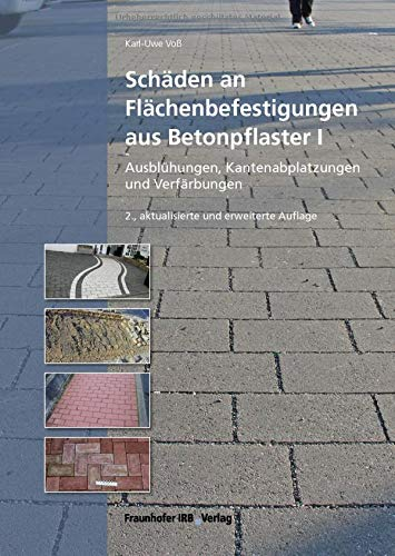 Schäden an Flächenbefestigungen aus Betonpflaster I.: Ausblühungen, Kantenabplatzungen und Verfärbungen.