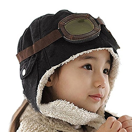 Butterme Cool Baby Winter weiche wärmer Hat /Säugling Fleece wärmer Ohrenschützer Beanie Cap/ Pilot Aviator Cap (Aviator Hut Und Brille)