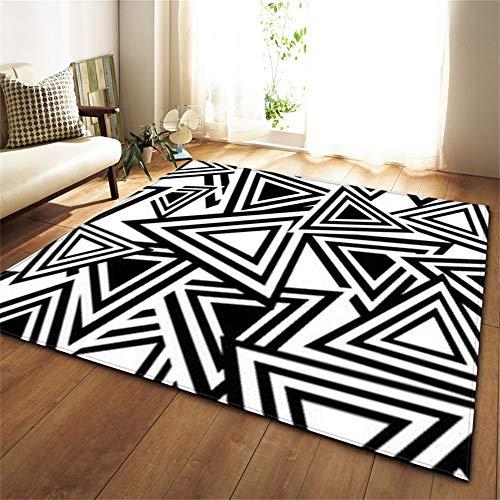 Designer Teppich Geometrische Linie Muster EuropäIschen Stil Rechteckige 3D Gedruckt Polyester Rutschfeste Wohnzimmer Sofa,B,150 * 100cm - Europäischen Designer-linie
