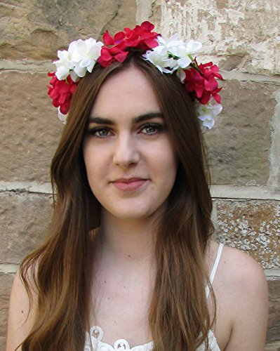 Hot Rose Blanc Hortensia Couronne cheveux fleur couronne bandeau coiffe Boho V29 * * * * * * * * exclusivement vendu par – Beauté * * * * * * * *