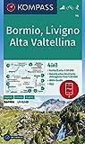 Bormio, Livigno, Alta Valtellina: 4in1 Wanderkarte 1:50000 mit Aktiv Guide und Detailkarten inklusive Karte zur offline Verwendung in der KOMPASS-App. ... Skitouren. (KOMPASS-Wanderkarten, Band 96) -