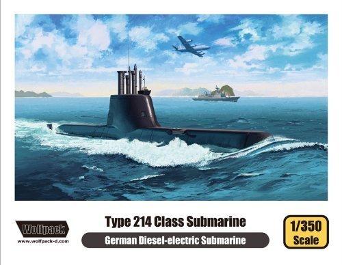 Wolfpack Designs (WPD13501 1:350 Wolfpack German Type 214 Class Diesel-Electric Submarine MODEL KIT by Wolfpack Design)
