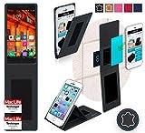 reboon Hülle für Elephone P9000 Lite Tasche Cover Case Bumper | Schwarz Leder | Testsieger