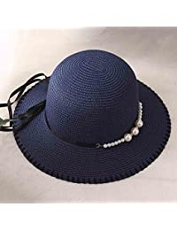Honey Primavera Estate Cappello da Pescatore da Donna Decorazione di Perle  Foldable Cappello da Sole Cappello 0482aa0580ee
