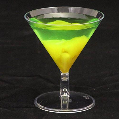 Stampfern 45ml klar Kunststoff Einweg Mini Cocktail Martini Gläser–12Stück oder 144 farblos