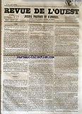 Telecharger Livres REVUE DE L OUEST No 89 du 26 07 1855 JOURNAL POLITIQUE ET D ANNONCES (PDF,EPUB,MOBI) gratuits en Francaise