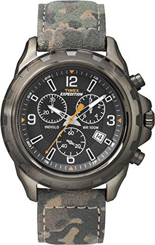 Timex-T49987-Orologio-da-Polso-Cronografo-da-Uomo-Cinturino-in-Pelle-Multicolore