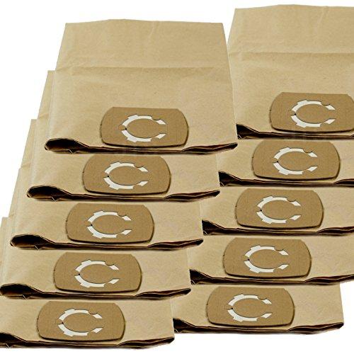 DeClean Staubsaugerbeutel Staubbeutel für Staubsauger Nass-Trockensauger 10 Stück Ersatz für Fein IPX4 25L und 35 L