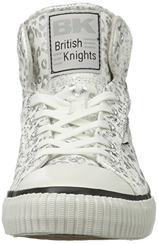 British Knights Dee, Sneakers basses femme Weiß (white/silver leopard)