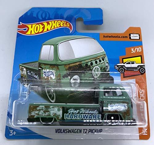 Hot Wheels 2018 Volkswagen T2 Pickup Green 3/10 HW Hot Trucks 297/365 (Short Card)