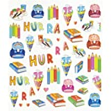 43 tlg. Set Sticker / Aufkleber - Schulanfang Schultüte Stifte Schulbeginn Ranzen Schule ABC Hefte