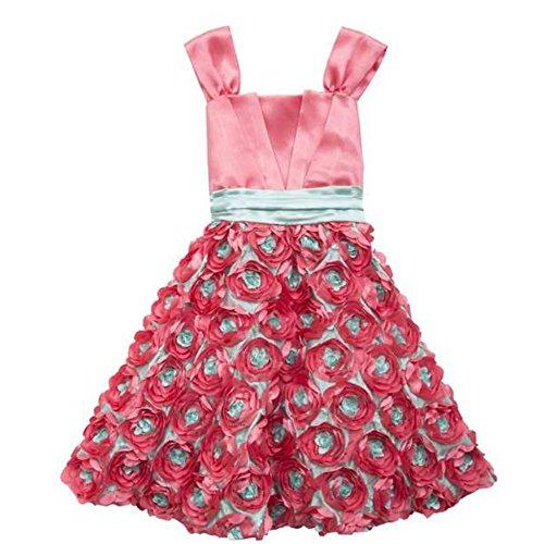 Rare Editions Kleid (Rare Editions traumhaftes Mädchen Kleid Türkis Pink Blumen (140))