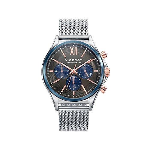 Viceroy Reloj Cronógrafo para Hombre de Cuarzo con Correa en Acero Inoxidable 471111-53