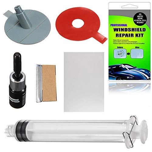 Festnight Windschutzscheibe Reparatur Kit DIY Auto Fenster Windschutzscheibe Glas Kratzer Reparatur Sets für Fix Auto Glas Windschutzscheibe Riss Chip Scratch