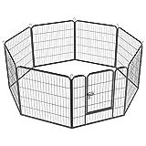Yaheetech 8 Piezas 80 X 80 cm Vallas para Perros Parque de Perros Parque Jaula de Mascota