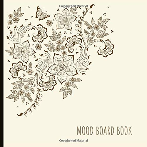 Mood Board Book: Beautiful Book To Create Great Mood Boards With Blank Templates, Prompts And More For Mood Boards And Creativity! 8.5x8.5 Size. (Board Kit Game Blank)