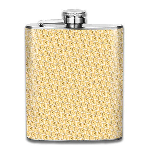 Cheese Cookies Pocket Leak Proof Liquor Hip Flask Alcohol Flagon 304 Stainless Steel 7OZ Gift Box Outdoor Steel Bar Cookies