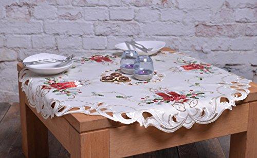 Crema Rosso Oro tovaglia Natale campane candele Tovaglia Natale decorazione