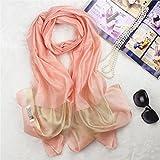 TIANLU Mozambico anche strettamente tovaglioli di colore solido colore puro Mulberry foulard di seta strettamente oro Seta foulard di seta, Rosa, seta filo dorato