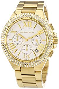 Michael Kors Damen-Armbanduhr XL Chronograph Quarz Edelstahl beschichtet MK5756