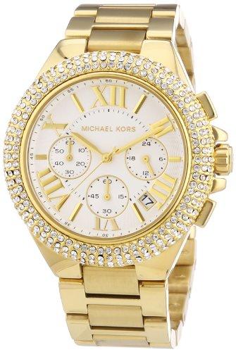 Michael Kors Damen Chronograph Quarz Uhr mit Edelstahl Armband MK5756
