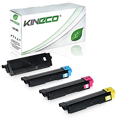 4 Toner kompatibel zu Kyocera TK580 ECOSYS P6021 CDN FS-C 5150 DN - TK580K TK580C TK580M TK580Y - Schwarz 4.000 Seiten, Color 3.000 Seiten
