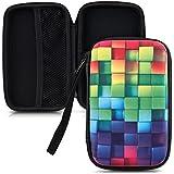 """kwmobile Robusto Funda Diseño arco iris dado para disco duro externo (2,5"""") de color multicolor verde azul bolsa cáscara"""