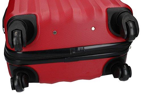 3 Maletas rígidas PIERRE CARDIN rojo 4 ruedas cabina para viajes VS222