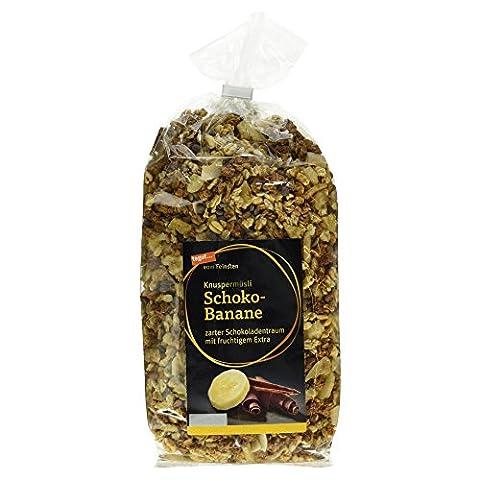 Tegut vom Feinsten Knuspermüsli Schoko-Banane, 2er Pack (2 x 750 g) (Honig Zimtpulver)